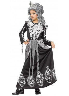 Детский костюм Королевы скелетов