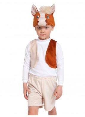 Детский костюм лошадки с жилетом и шортами