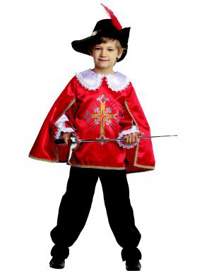Детский костюм мушкетера красный