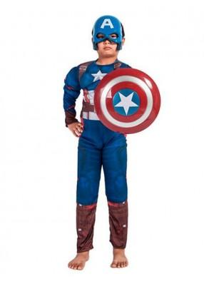 Детский костюм отважного Капитана Америки