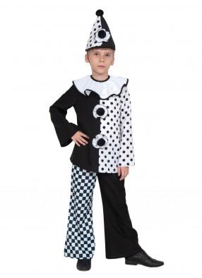 Детский костюм Пьеро с колпаком