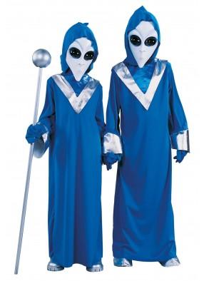 Детский костюм пришельца синий фото