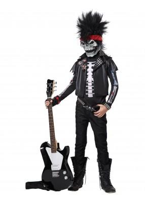 Детский костюм рокера скелета фото