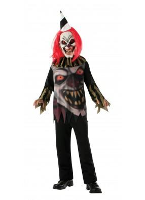 Детский костюм сумасшедшего клоуна фото