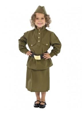 Детский костюм военный гимнастерка с юбкой фото
