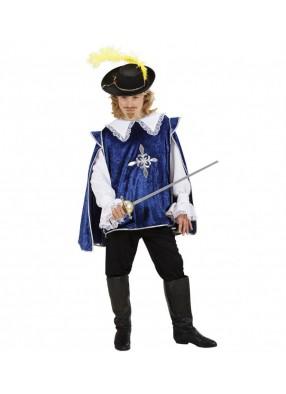 Детский костюм синего мушкетера