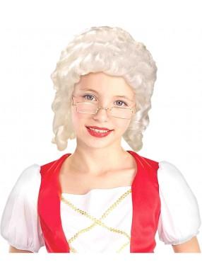 Детский парик Придворная леди