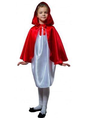 Детский плащ красный короткий с капюшоном фото