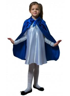 Детский плащ синий длинный с воротником фото