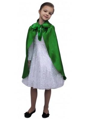 Детский плащ зеленый длинный с воротником фото