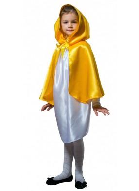 Детский плащ желтый короткий с капюшоном фото