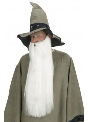 Длинная борода и усы белого цвета фото