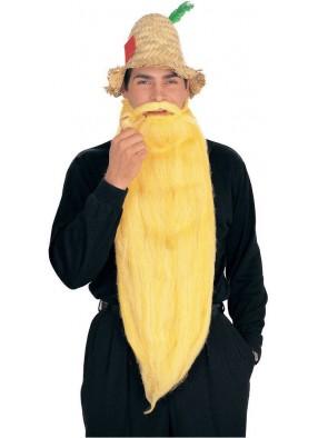 Длинная желтая борода с усами