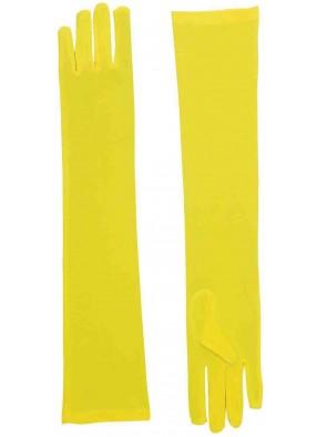 Длинные желтые перчатки