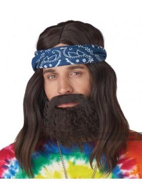 Длинный парик хиппи