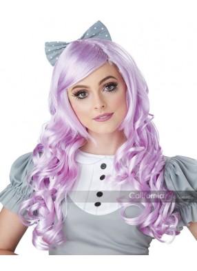 Длинный розовый парик для косплея