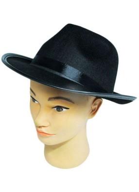 Фетровая шляпа Гангстера черная