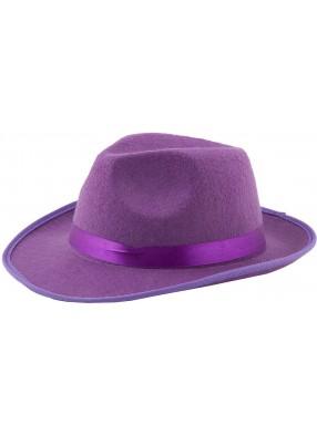 Фиолетовая гангстерская шляпа