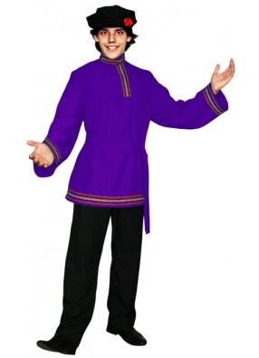 Фиолетовая косоворотка с тесьмой