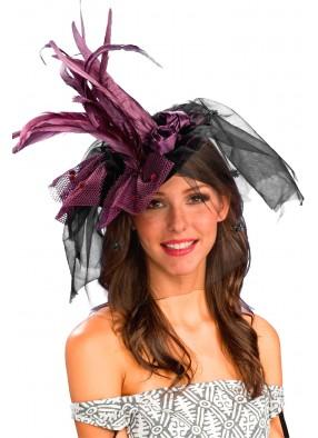 Фиолетовая шляпка ведьмы взрослая