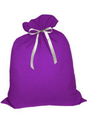 Фиолетовая упаковка для новогодних подарков