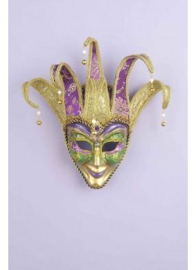 Фиолетово-золотая венецианская маска фото