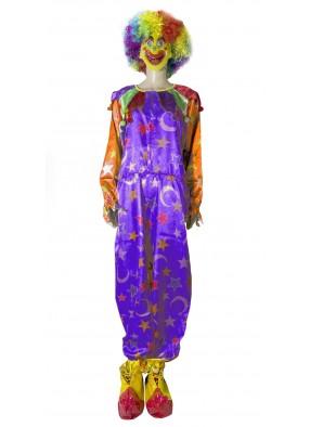 Фиолетовый клоунский костюм фото