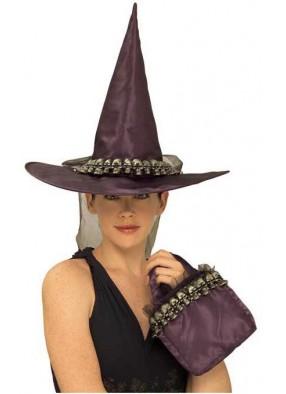 Фиолетовый колпак и сумочка ведьмы