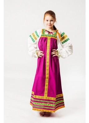 Фиолетовый сарафан Русский дух детский
