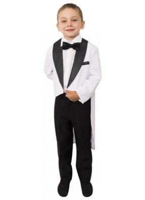 Фрак белый с черным для мальчика