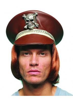 Фуражка коричневая с черепом