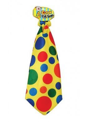 Галстук Клоуна в разноцветный горошек