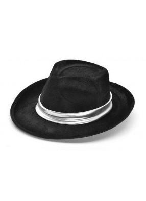 Гангстерская шляпа с серебряной лентой
