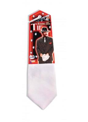 Гангстерский галстук белый