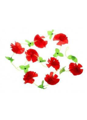 Гавайская гирлянда Цветы красные