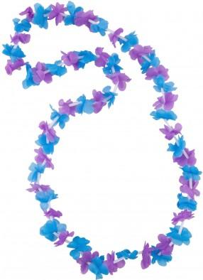 Гавайское ожерелье фиолетово-голубое