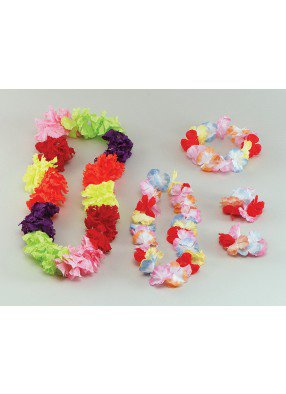 Гавайское ожерелье из шелковых цветов