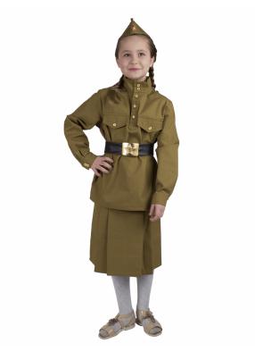 Гимнастерка времен ВОВ детская с юбкой 1 фото