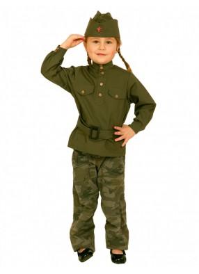 Детская гимнастерка времен ВОВ девочке фото