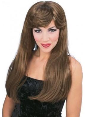 Гламурный парик шатенки