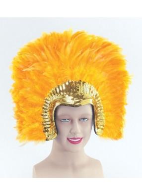 Головной убор Клеопатры с желтыми перьями