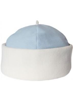 Голубая классическая шапка Снегурочки