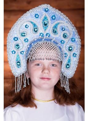 Голубая корона кокошник