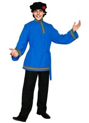 Голубая косоворотка с тесьмой