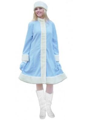 Голубой классический костюм Снегурочки