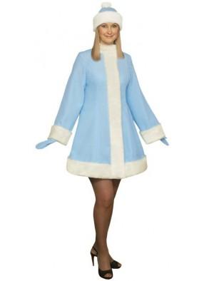 Голубой короткий костюм Снегурочки