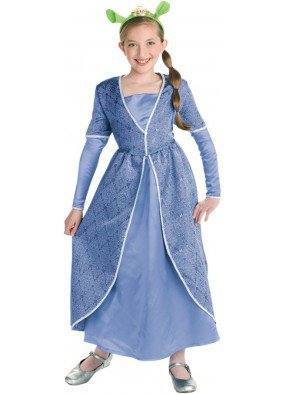 Голубой костюм принцессы Фионы для девочки