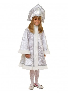 Голубой костюм Снегурочки для девочки