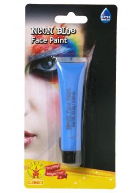 Голубой неоновый грим фото