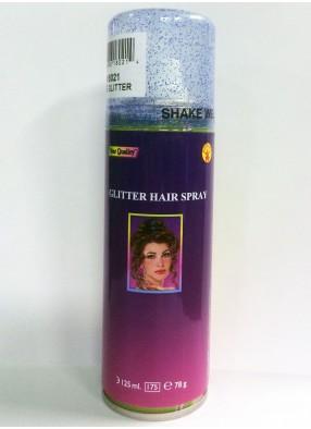 Голубой спрей с блестками для волос